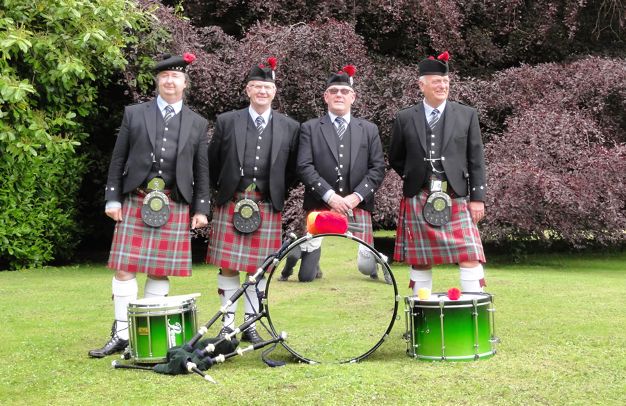 Pipe Band in Field